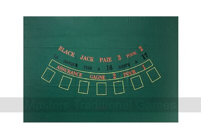 Dal Negro Blackjack Baize table top