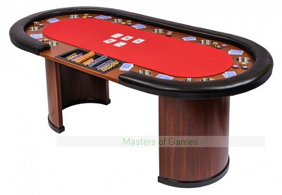 Dealer Poker Table with Arc Legs
