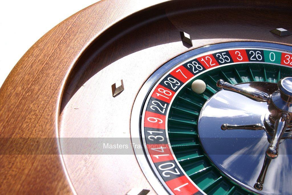 Dal Negro Roulette Wheel 50cm Mahogany Roulette