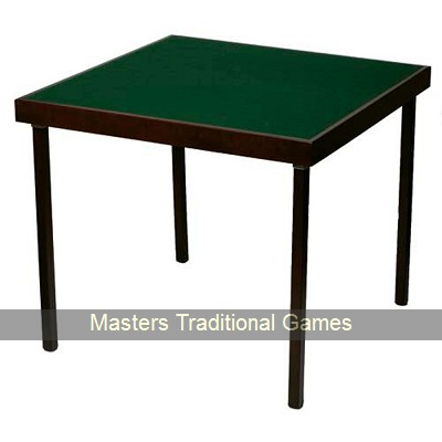 Pelissier Club Bridge Table - Card Table with Mahogany finish and green baize surface