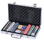 Aluminium Poker Set with 300 chips (11.5g)