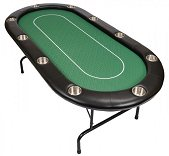 10 Person Pro Poker Table with Folding Metal Legs