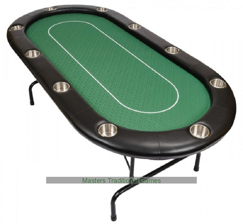 10 person pro poker table with folding metal legs for 10 person poker table top