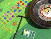 Roulette and Blackjack set (40cm wheel)