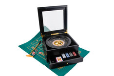 Deluxe Roulette Set in Wooden Chest