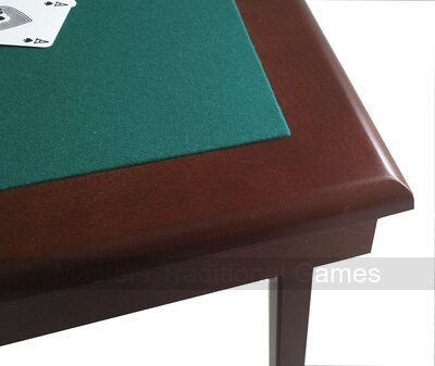 Pelissier Royal Bridge Table - Mahogany finish, green baize