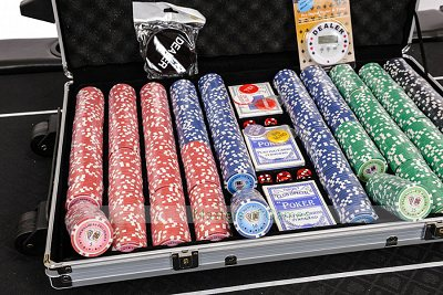 Tournament 1000 Piece Numbered Poker Chip Set