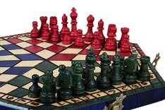 3 Player Chess Set - Large 54cm Tricolour Board