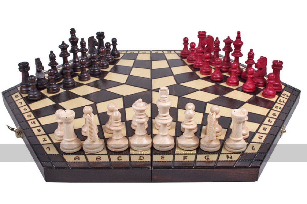 Three Player Chess Set Hexagonal Chess For 3 Players