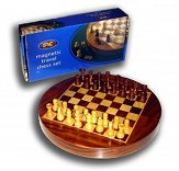 SAC 9 inch Round Magnetic Travel Chess Set