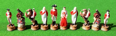 Italfama American Revolution Chess Pieces - Resin, Hand-Painted