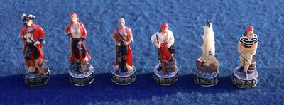Italfama Hand Painted Pirates Chess Set