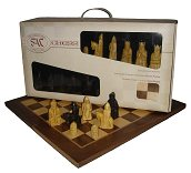 SAC Lewis Chessmen with folding board