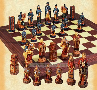 SAC Battle of Hastings Chess Set - hand decorated (without board)