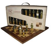 SAC Sherlock Holmes Chess Set - hand decorated with folding board in Presentation box