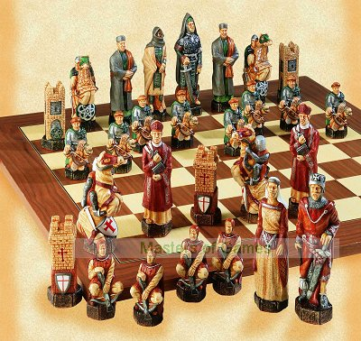 Crusades Chess Set - hand decorated (without board)