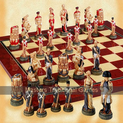 Battle of Waterloo Chess Set - hand decorated (without board)