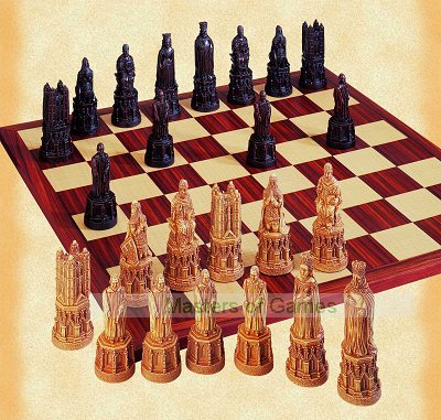 Canterbury Cathedral Chess Set (without board)