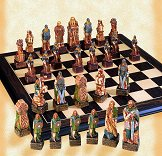 SAC Celtic Chess Set  - Hand Decorated (without board)