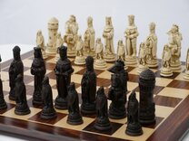 Berkeley Camelot Ornamental Chess set (cream & brown, board not included)