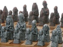 Berkeley Chess Ancient Egyptian Metallic Chess Set