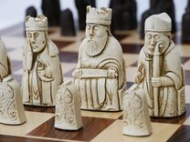 Berkeley Isle of Lewis Chess Set (cream & brown)