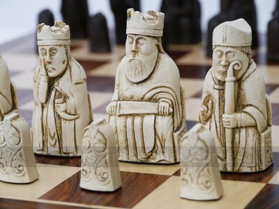 Isle of Lewis Chess Set (cream & brown, board not included)