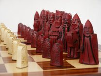 Berkeley Isle of Lewis Chess Set (cream & red)