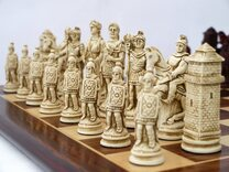 Ancient Rome Chess Set (cream & red, board not included)
