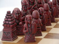 Ancient Egypt Chess Set (cream & red, no board)