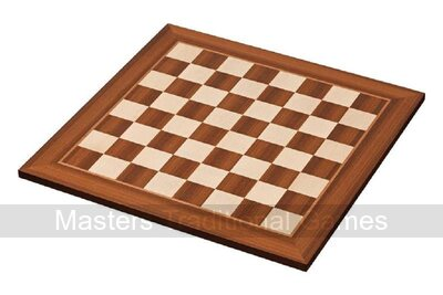 Philos Maple and Sapele Wood Chessboard 50cm (50mm squares)