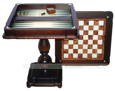 Italfama Chess & Backgammon Table - 58cm (without playing pieces)