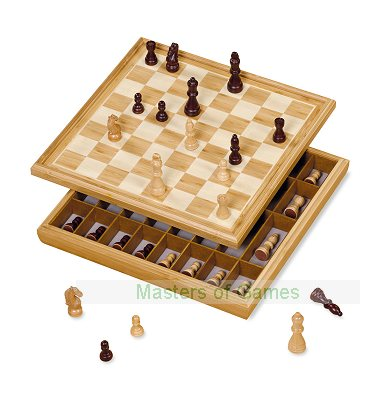 Dal Negro Cabinet Chess Set - 36cm board with pieces