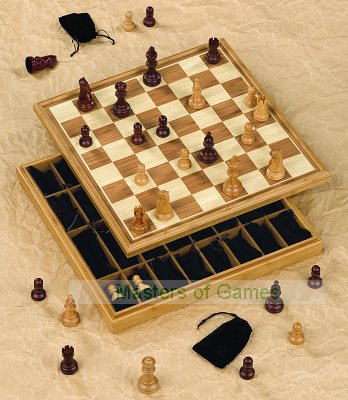 Dal Negro Cabinet Chess Set - 45cm board with pieces