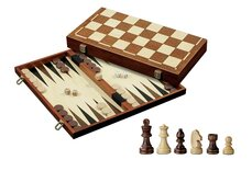 Chess, Backgammon & Draughts Set (45mm squares)