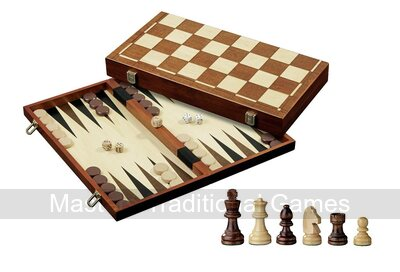 Philos Chess, Backgammon & Draughts Set - 40cm