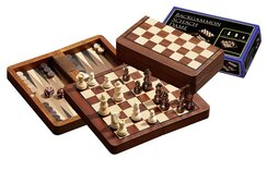 Chess, Backgammon & Draughts Travel Set
