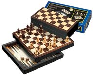 Chess, Backgammon Draughts Travel Set - Larger
