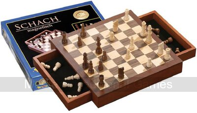 Philos 2713 Magnetic Square Chess Box Set - 30cm