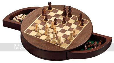 Rounded Magnetic Chess Cabinet - 30cm
