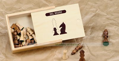 Dal Negro Wooden Chess Pieces - 50mm King
