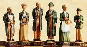 SAC Sherlock Holmes Chess Set - hand decorated (without board)