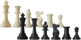 SchachQueen Entry-Level Chess Set with Plastic Pieces & Folding Board