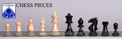 Ebony & Boxwood Staunton Chess Pieces