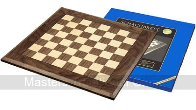 Walnut and Maple Wood Chessboard 50cm (with 50mm squares)