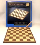 Philos 40cm walnut and maple chessboard with 45mm squares