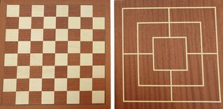 Dal Negro 35cm Chess & Nine Men's Morris Board