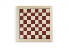 Luxury Inlaid Erable (Maple) Chessboard by Dal Negro - 44cm, Red