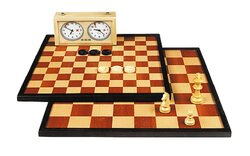 Double Sided Inlaid Walnut Chessboard (47cm)