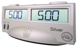FIDE Certified Digital Chess Clock (Silver)